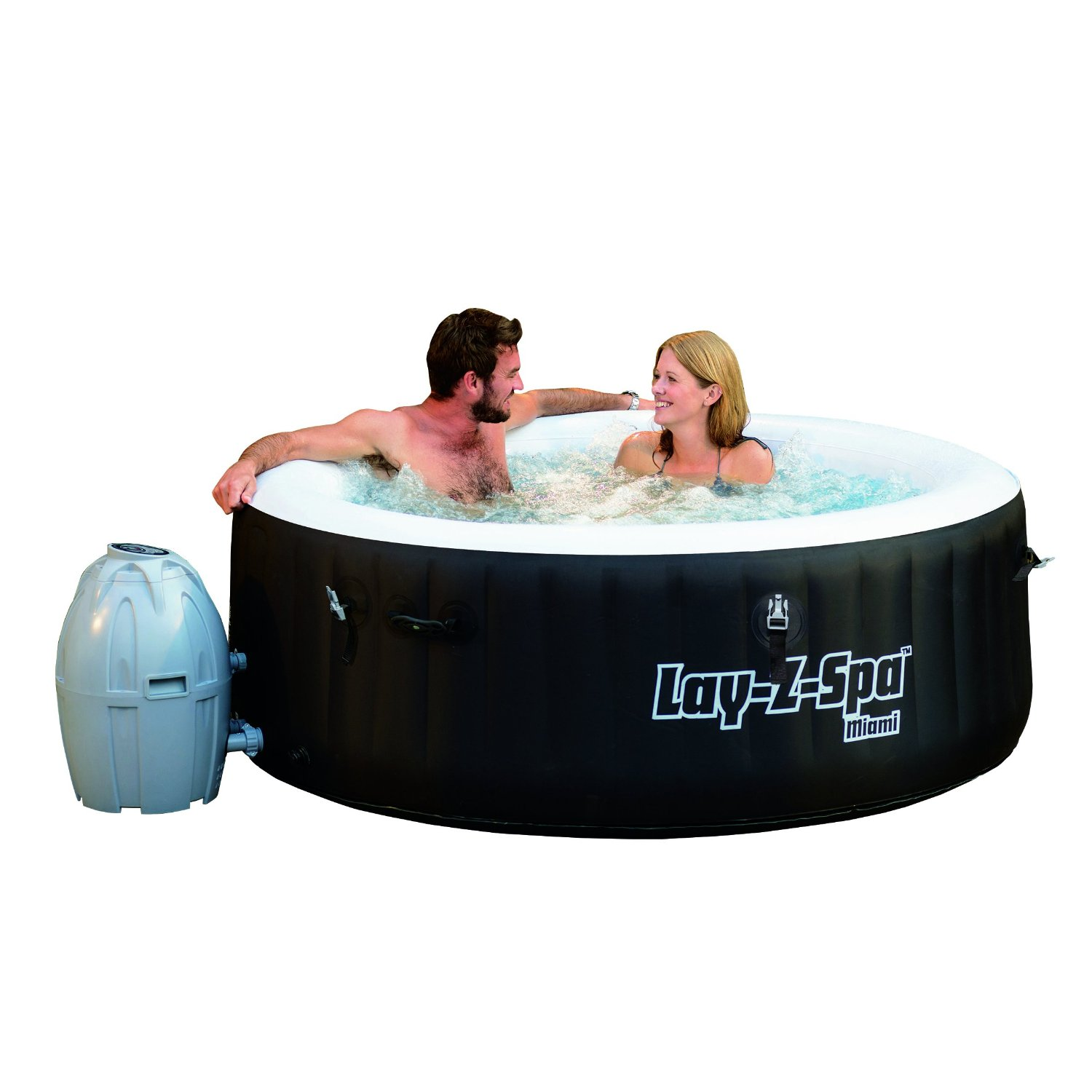 Lay-z-Spa Miami Air Jet Inflatable Hot Tub Review - Best Inflatable ...