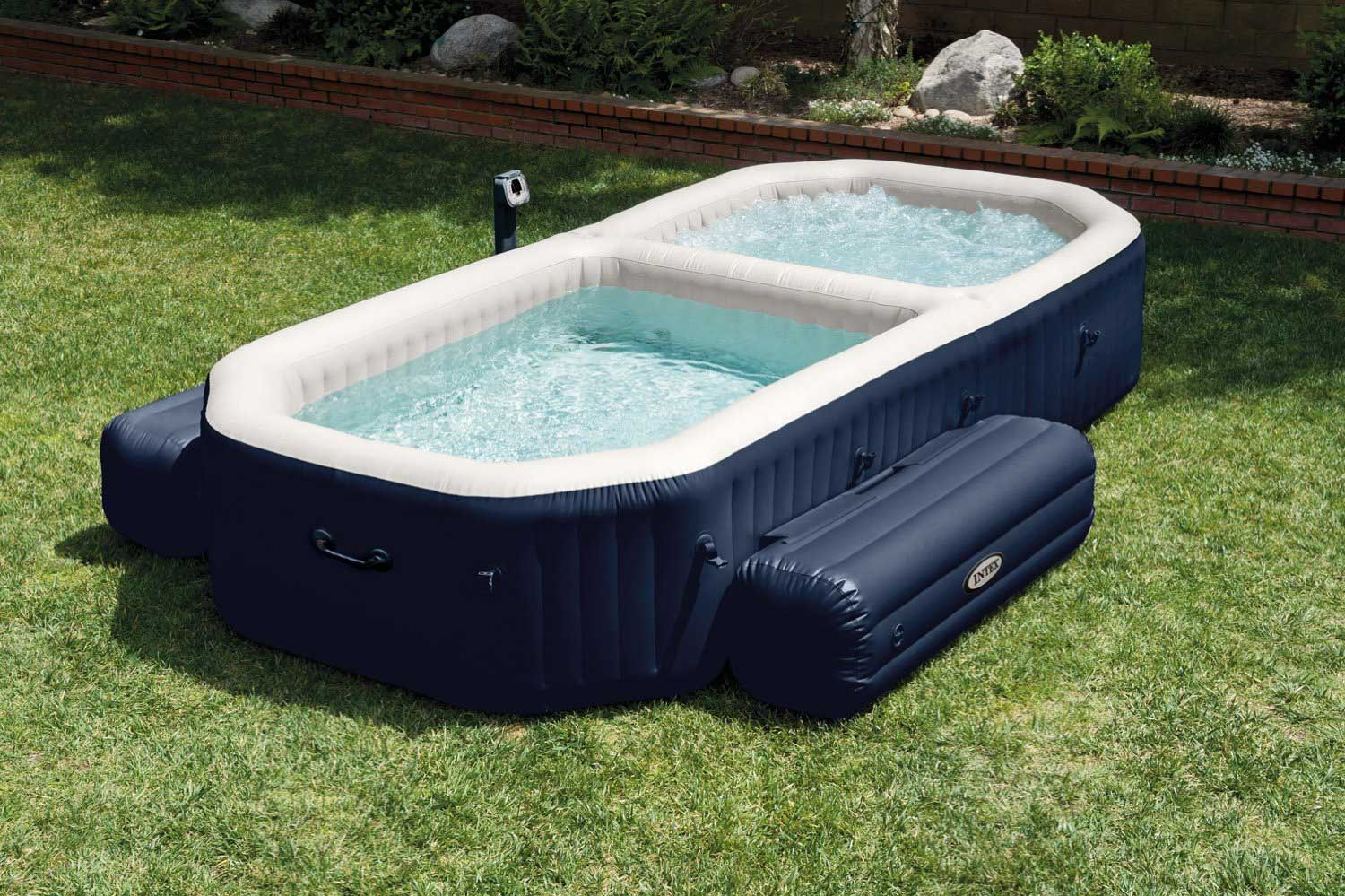 Intex purespa bubble hot tub and pool set review best inflatable hot tub center Intex inflatable swimming pool