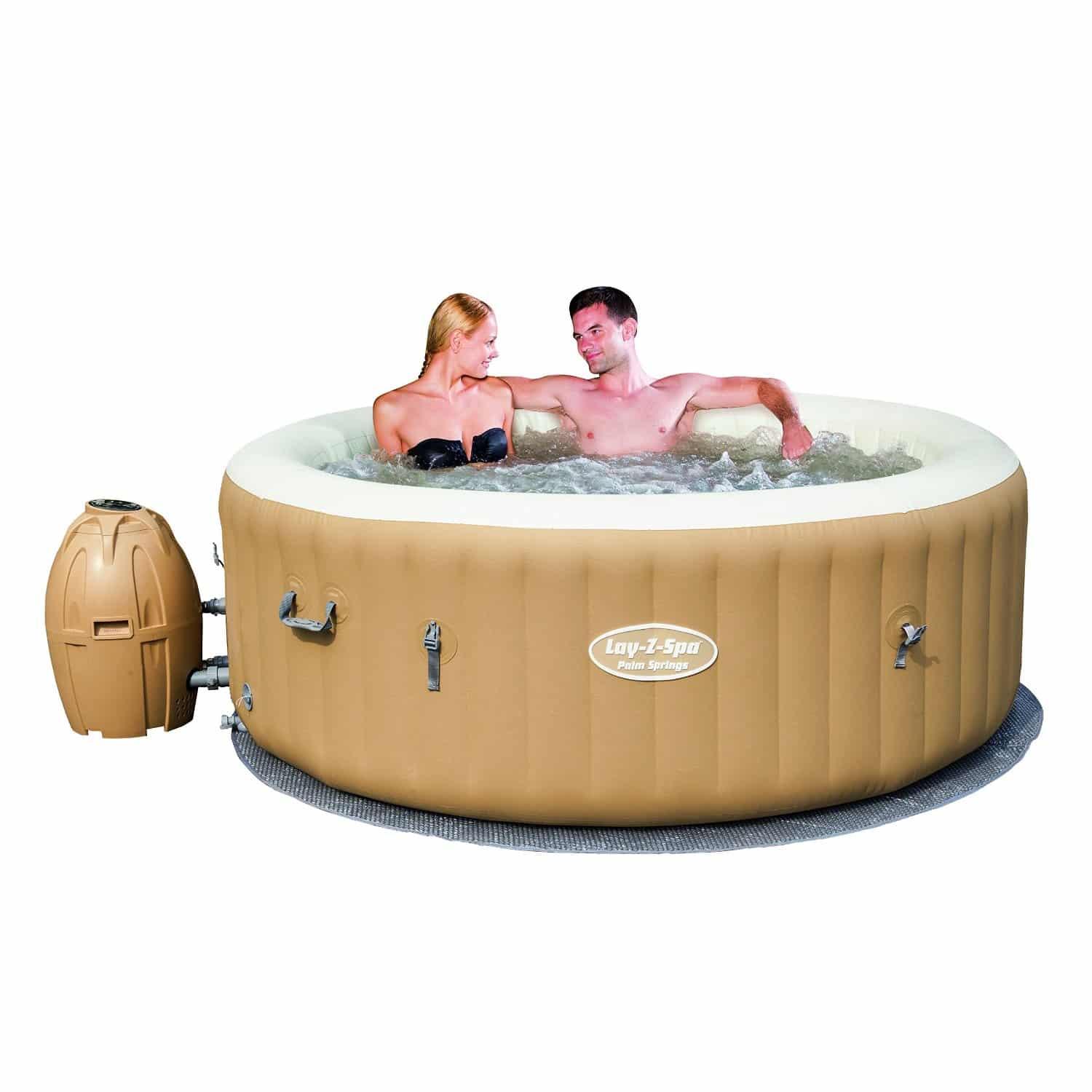 Lay-Z-Spa Palm Springs Air Jet Inflatable Hot Tub Review - Best ...